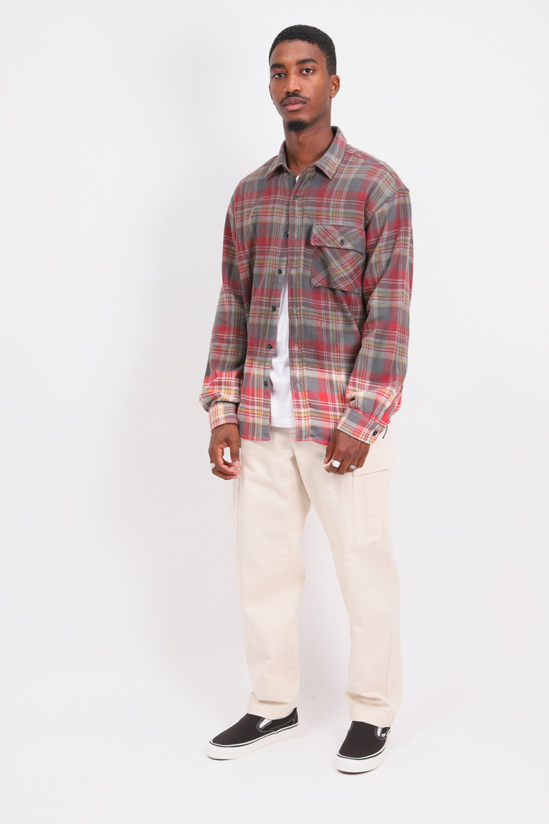 Shirt kith over dyed p's Red