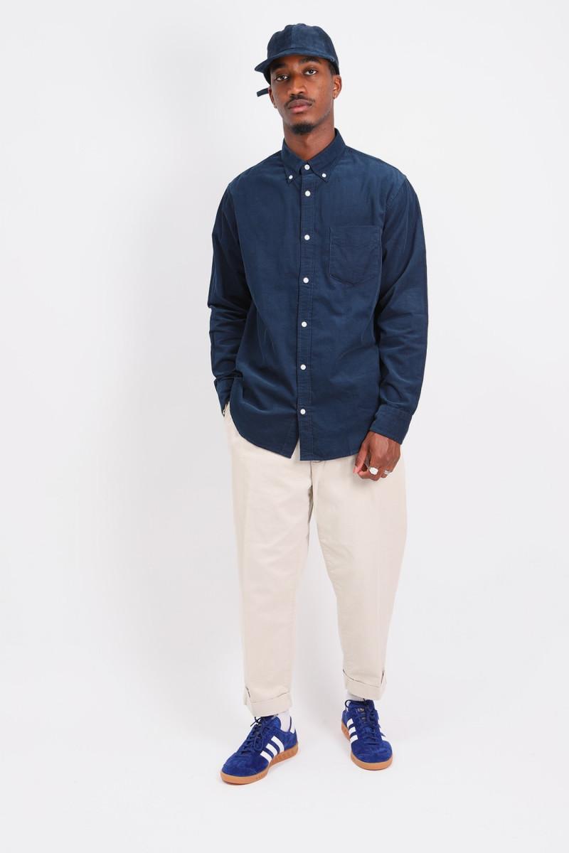 Regular cotton corduroy shirt Ocean