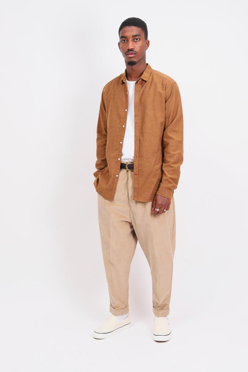 Clerkenwell tab shirt Rust
