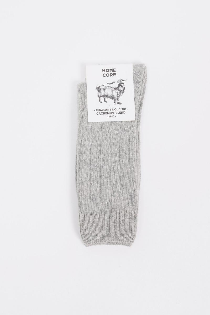 Socks cachemire blend Ash grey