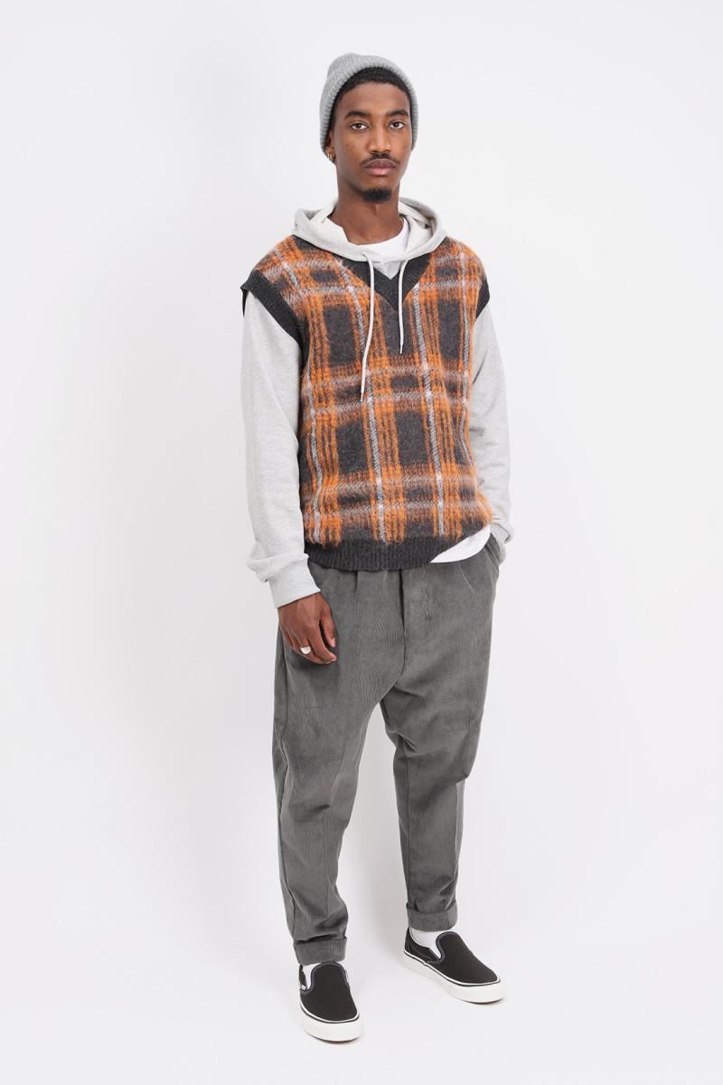 Vest p's check mohair Charcoal