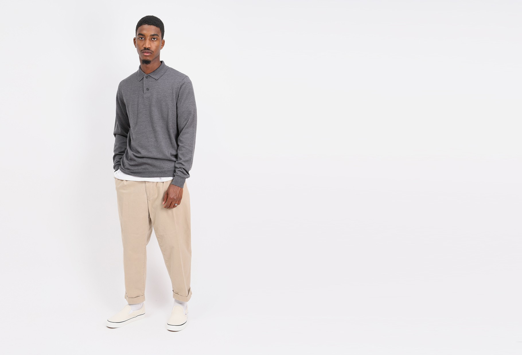 A.P.C. / Polo jerry Anthracite