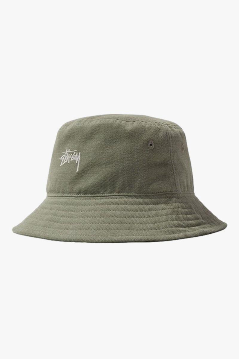 Stock bucket hat Light olive