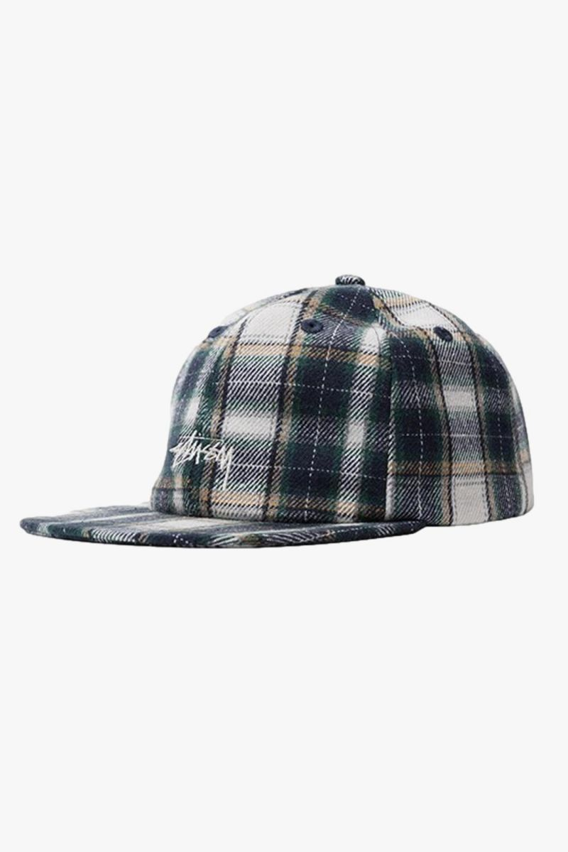 Flannel plaid stock Green