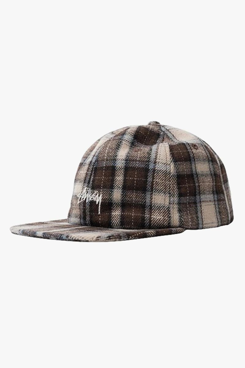 Flannel plaid stock Brown