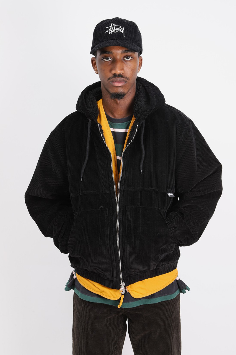 Cord work jacket Black