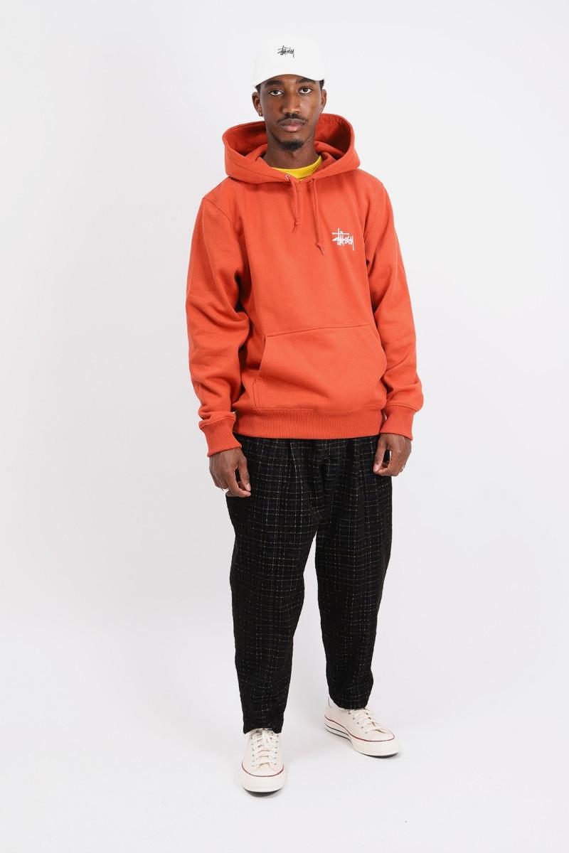 Basic stussy hoodie Brick