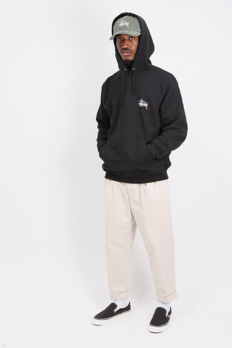 Basic stussy hoodie Black