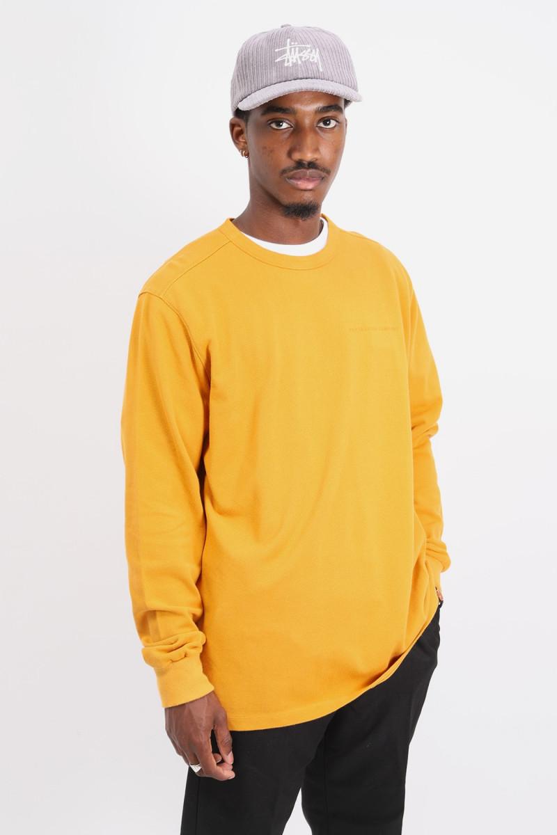 Pique logo longsleeve t-shirt Spruce yellow