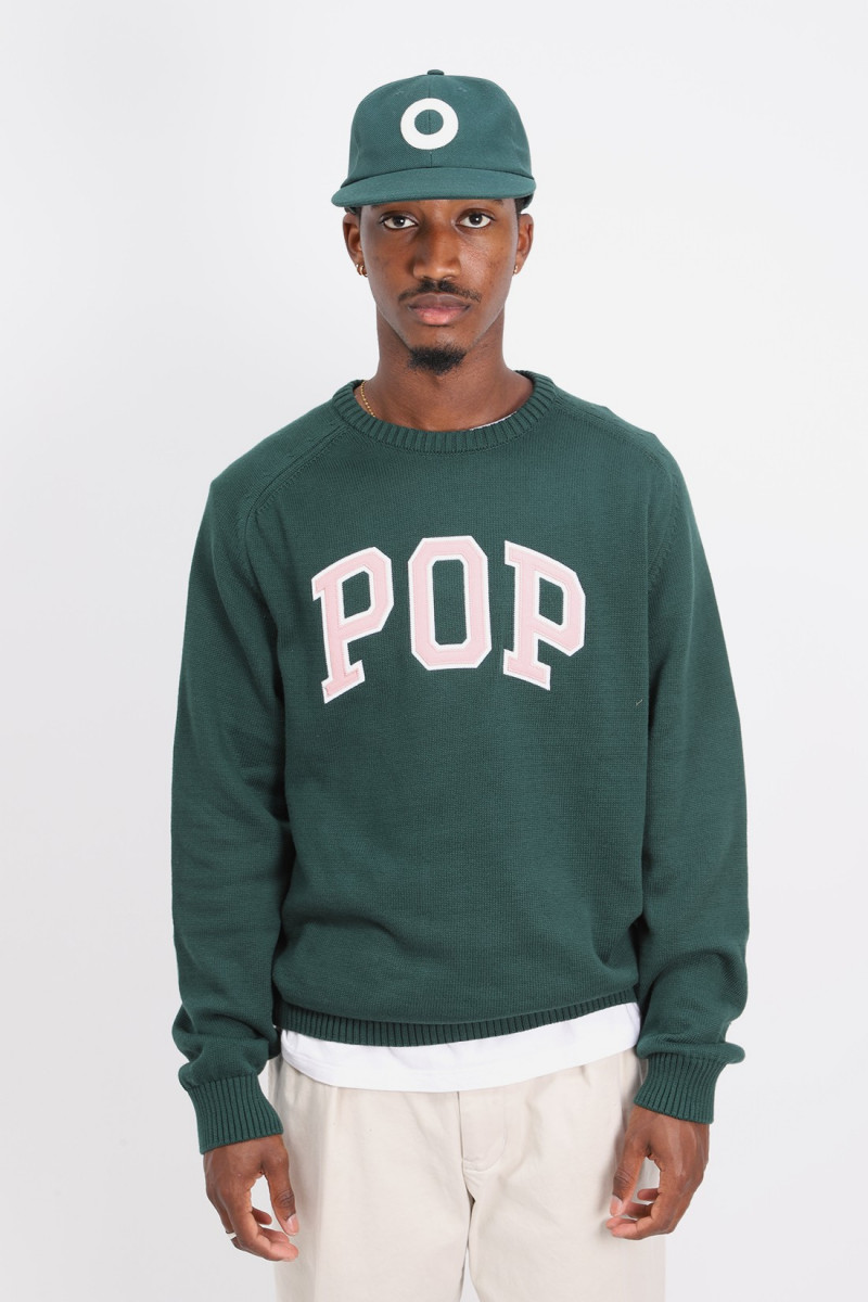 Arch knitted crewneck Bistro green