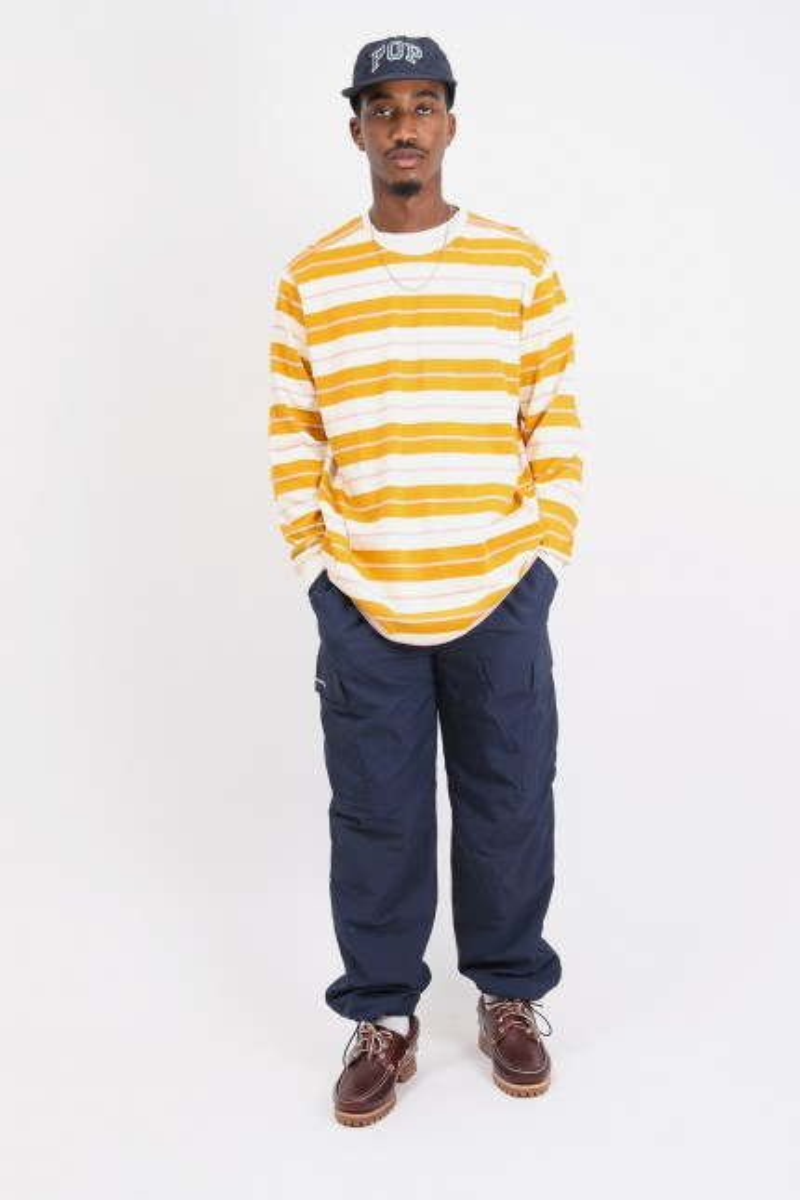 Striped longleeve t-shirt Spruce yellow