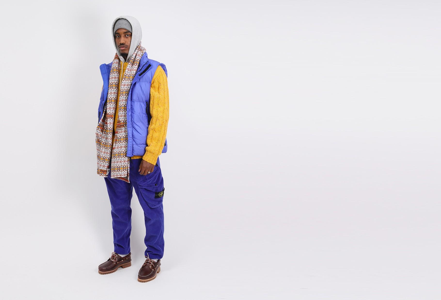 STONE ISLAND / G0123 sleeveless down jacket V0043 pervinca