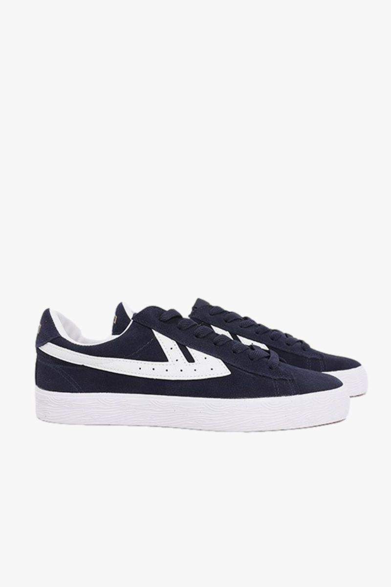 Dime suede Navy white