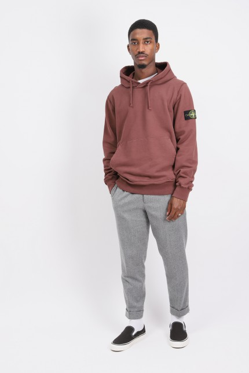 64120 hooded sweater v0076 Marrone mogano