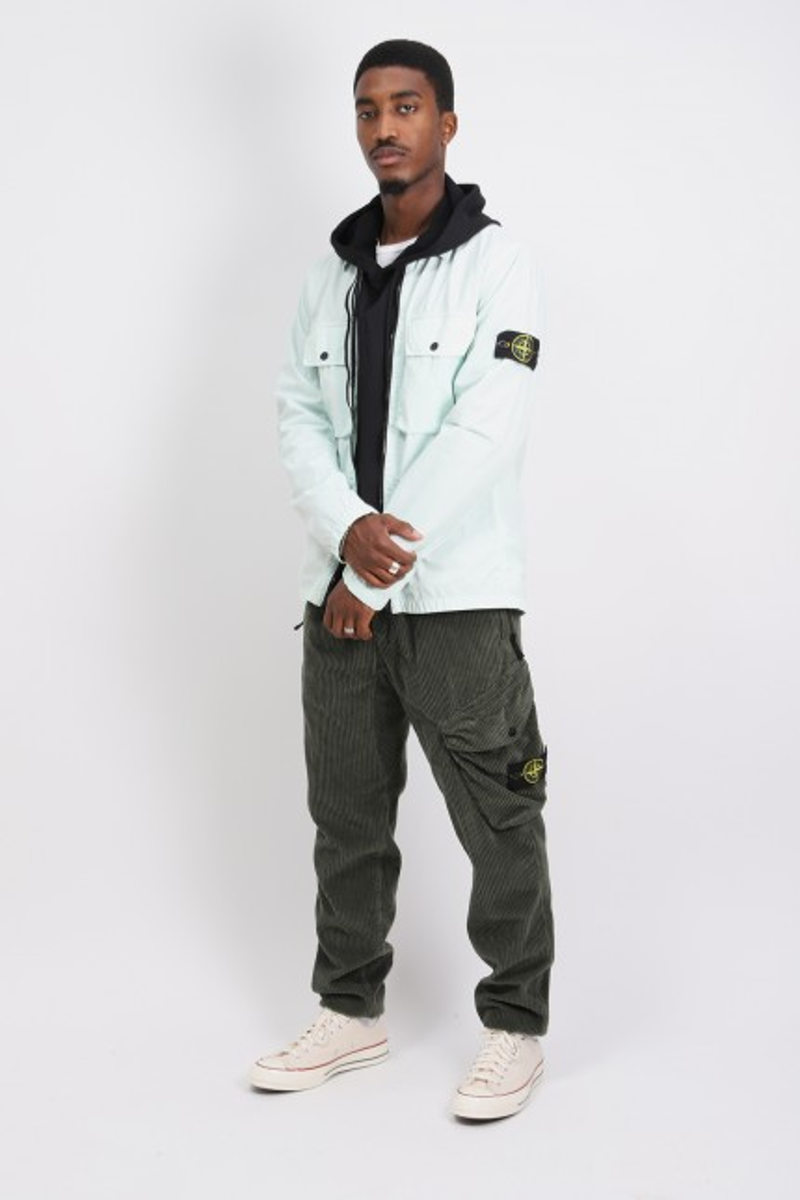 113wn overshirt v0152 Verde chiaro