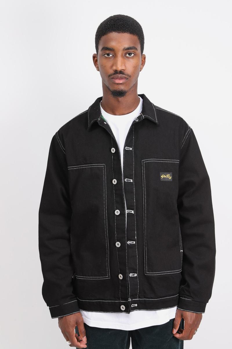 Winter box jacket Black denim