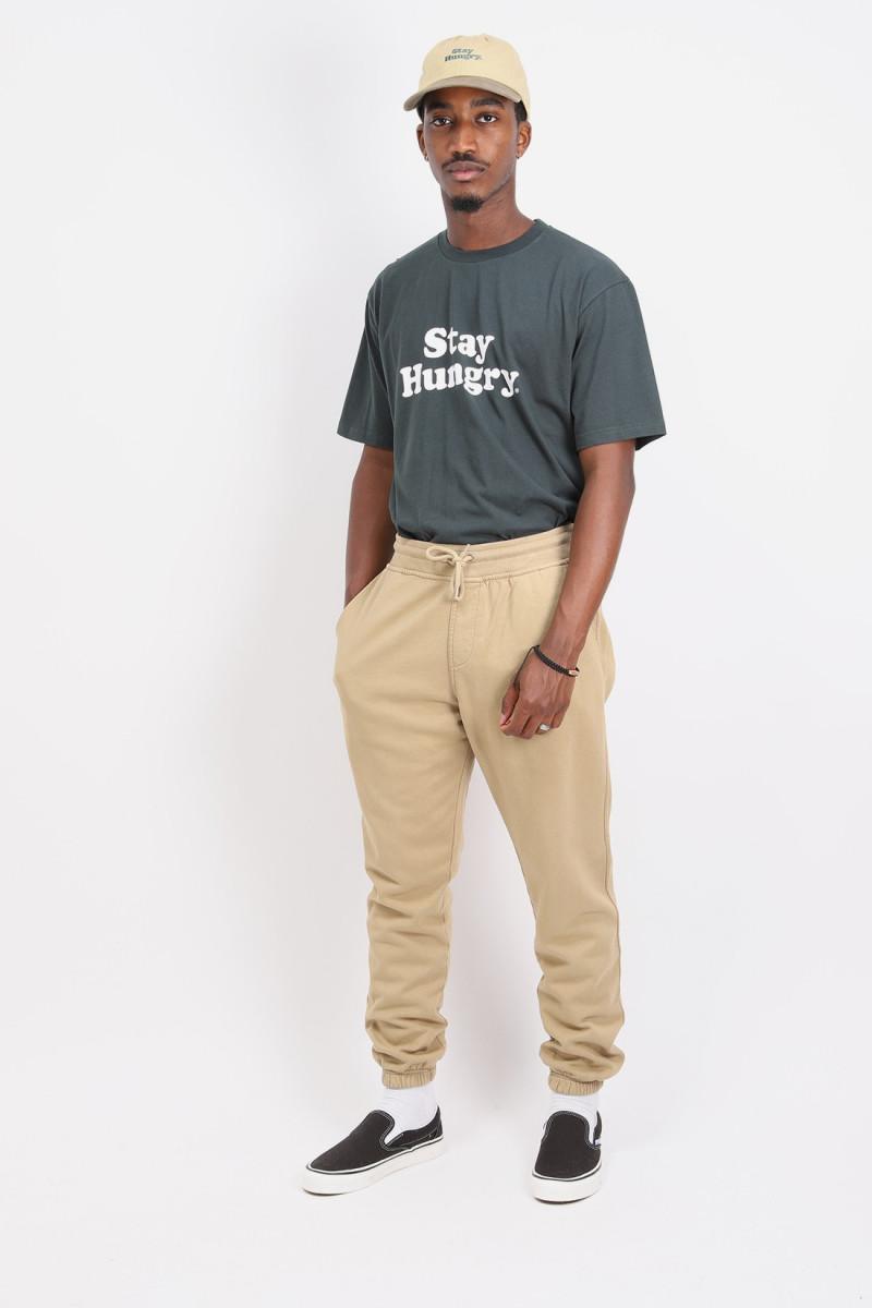 Classic organic sweatpants Desert khaki