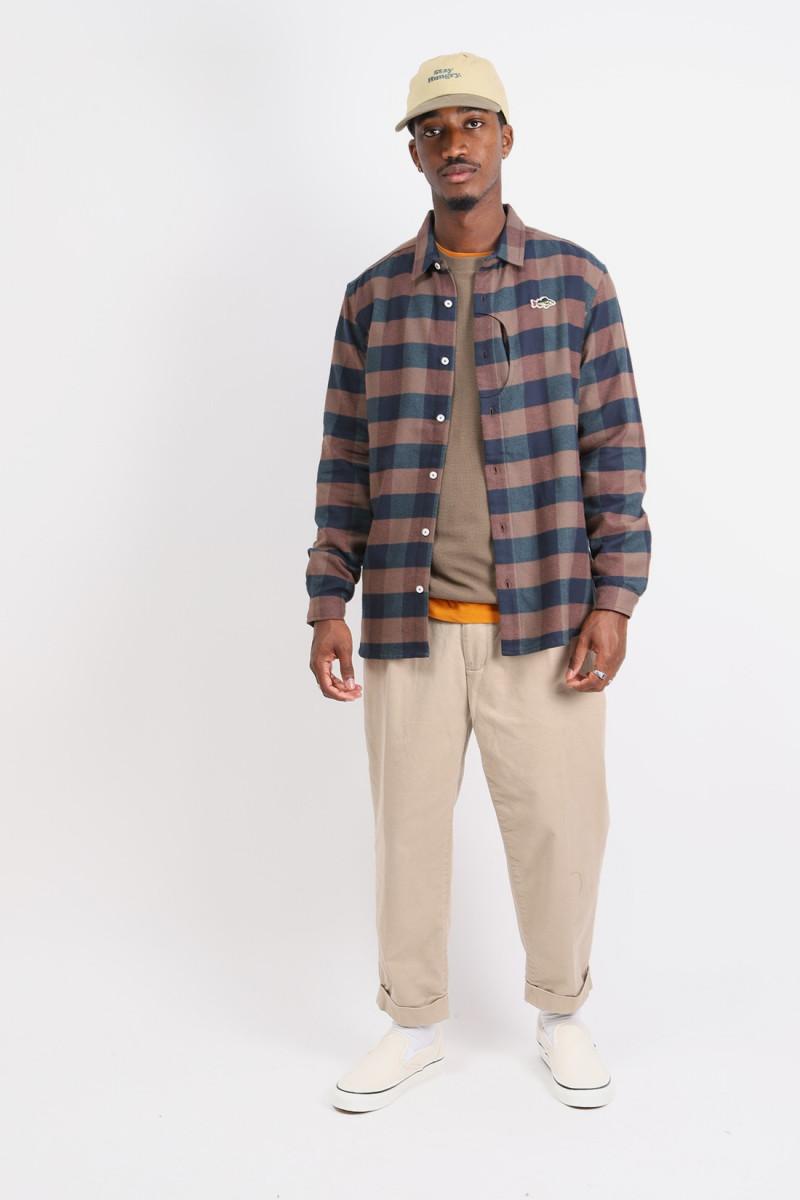 Aborre lumberjack shirt Brown/green