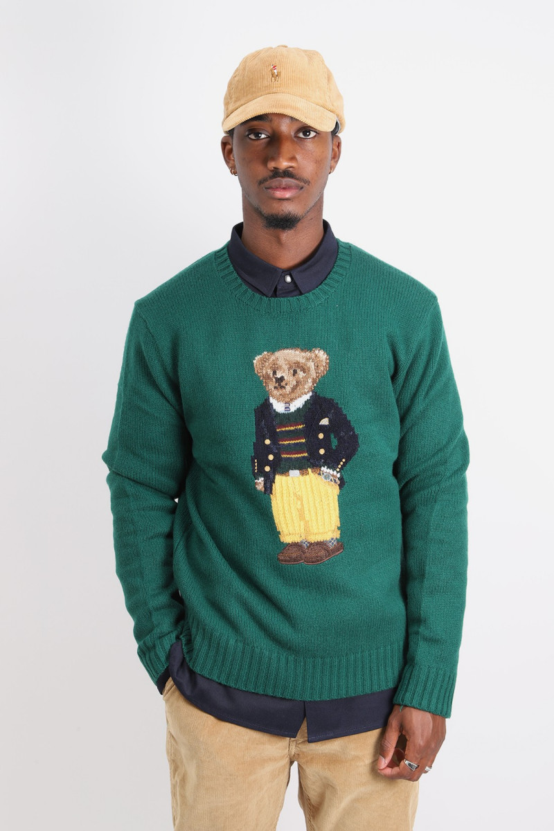 Polo bear pullover Green