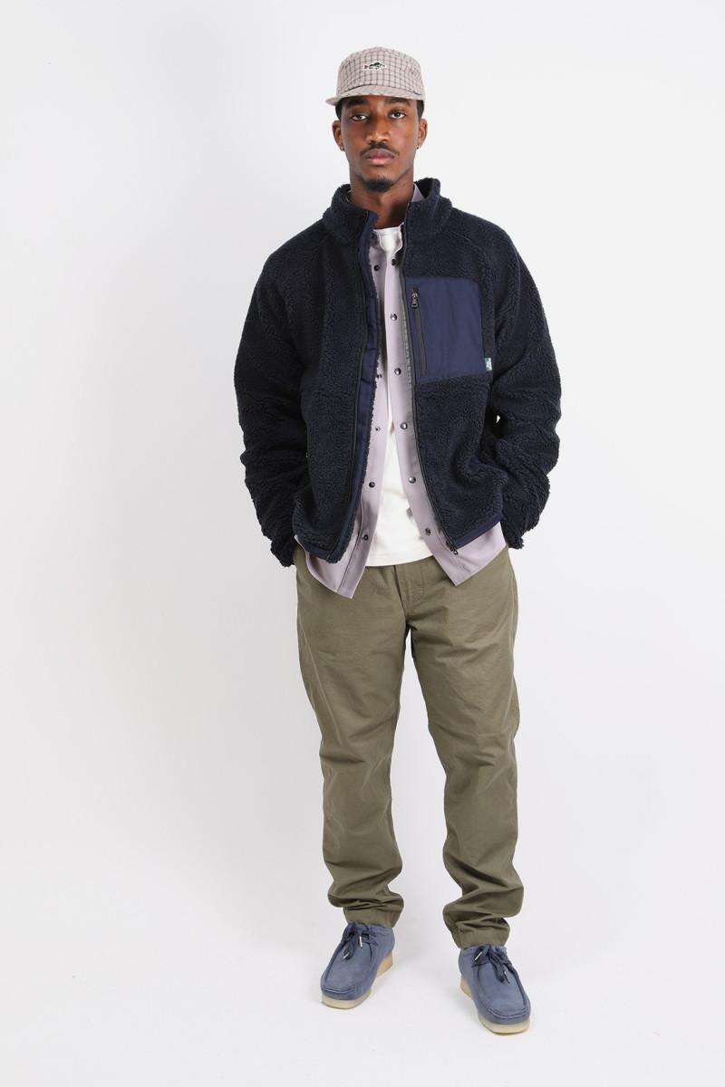 Smoothie teddy fleece jacket Navy blue