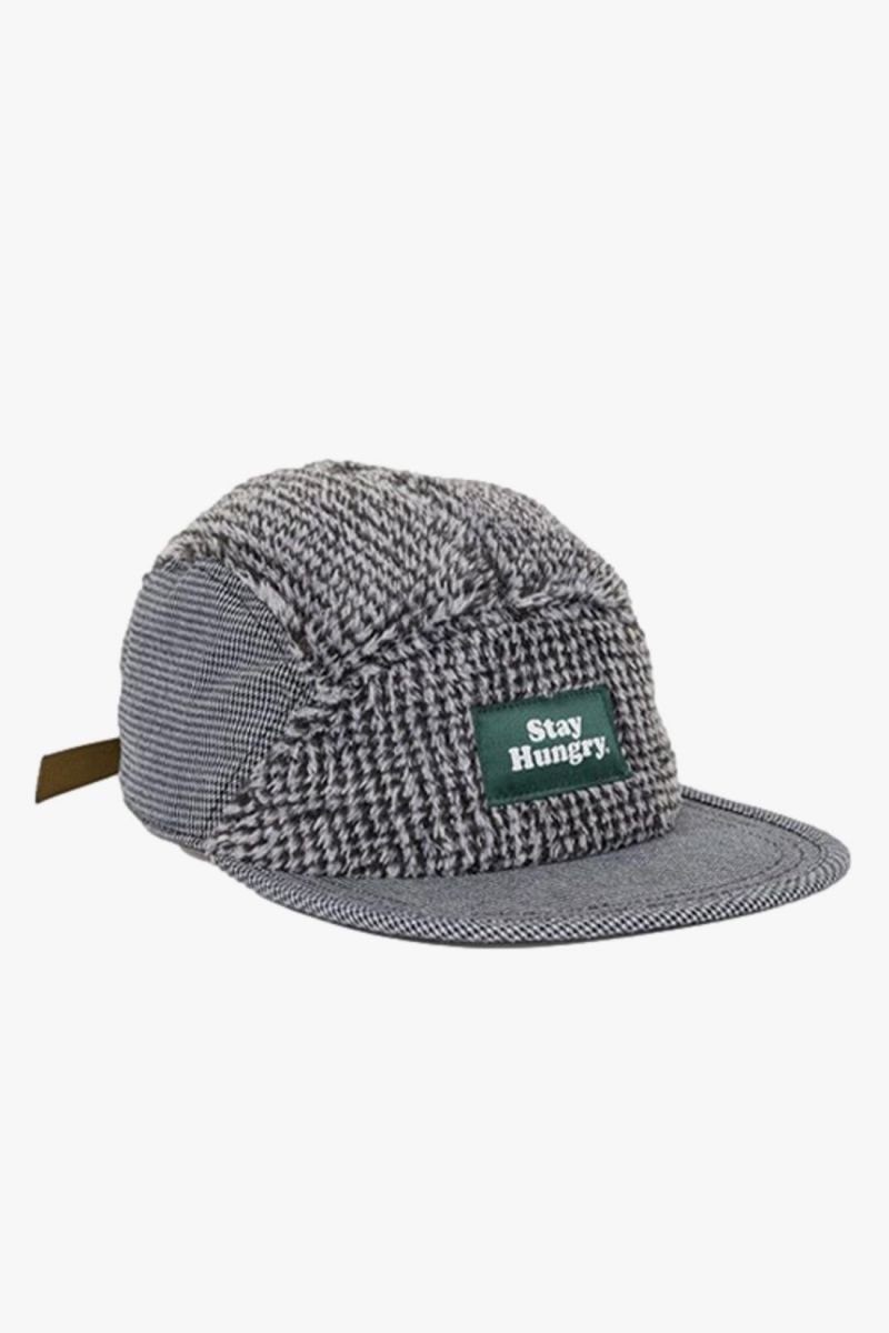 Smoothie camp cap fluffy Houndstooth