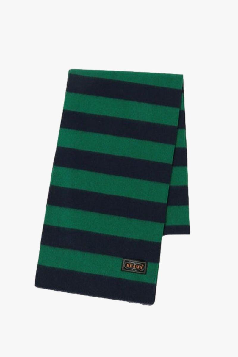 Cashmere scraf stripe Green/ navy