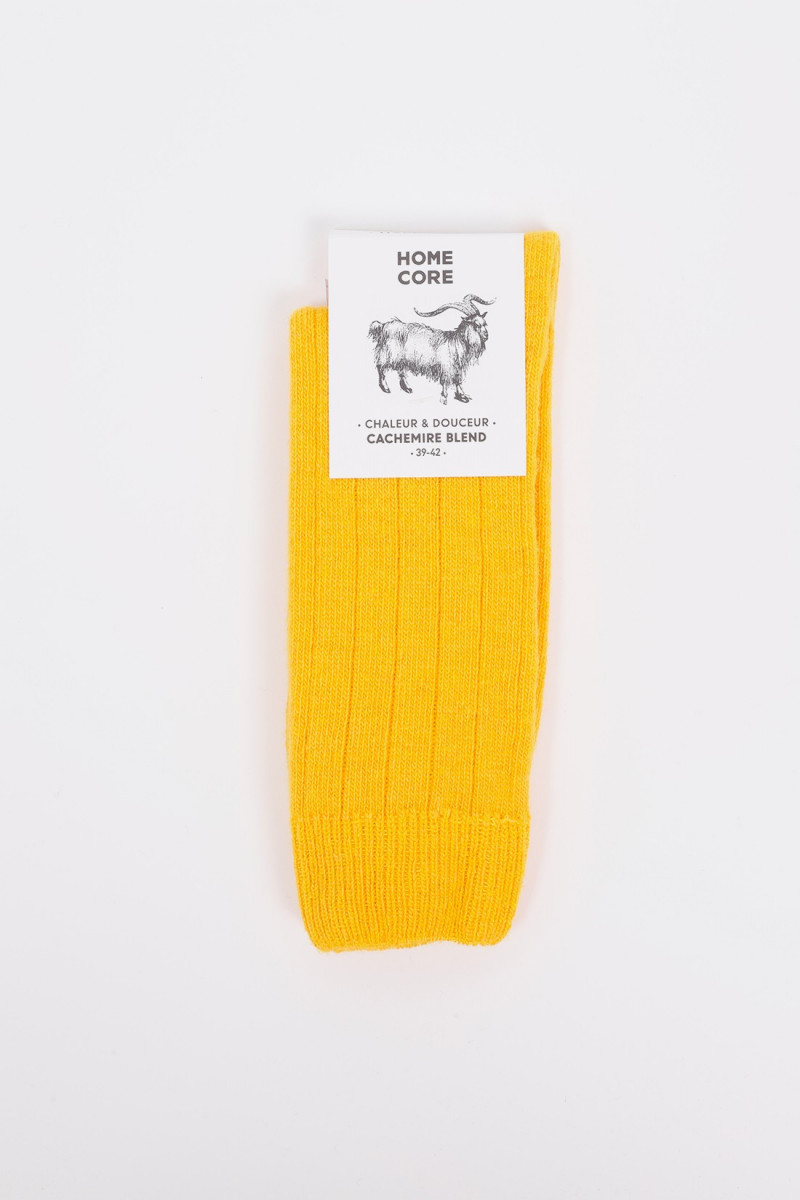 Socks cachemire blend Dijon yellow