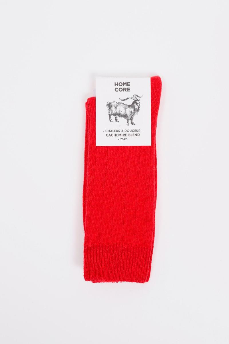 Socks cachemire blend Fire red