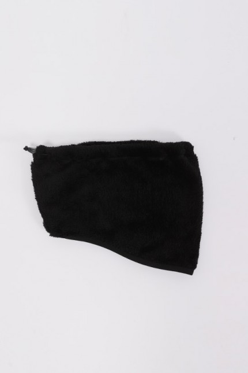 High loft fleece neck warmer Black