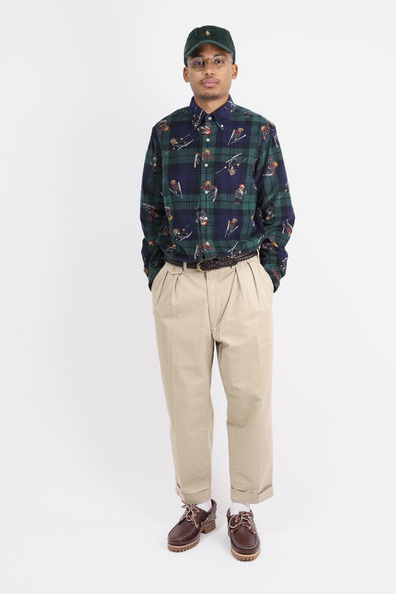 Classic fit holiday cord shirt Multi