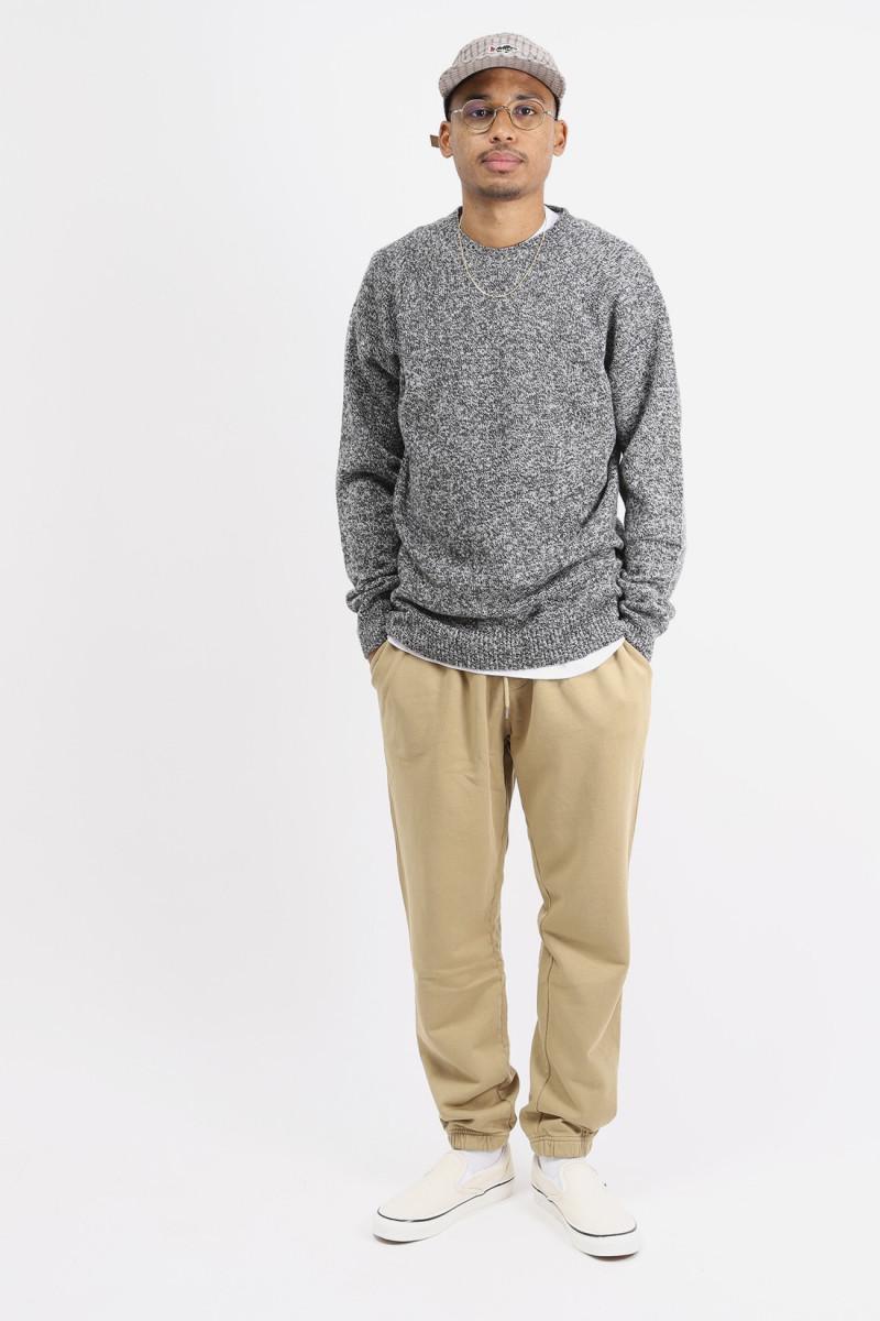 Crewneck sweater Black/ecru twist