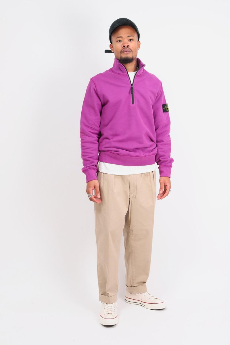 61920 half zip sweater v0045 Magenta