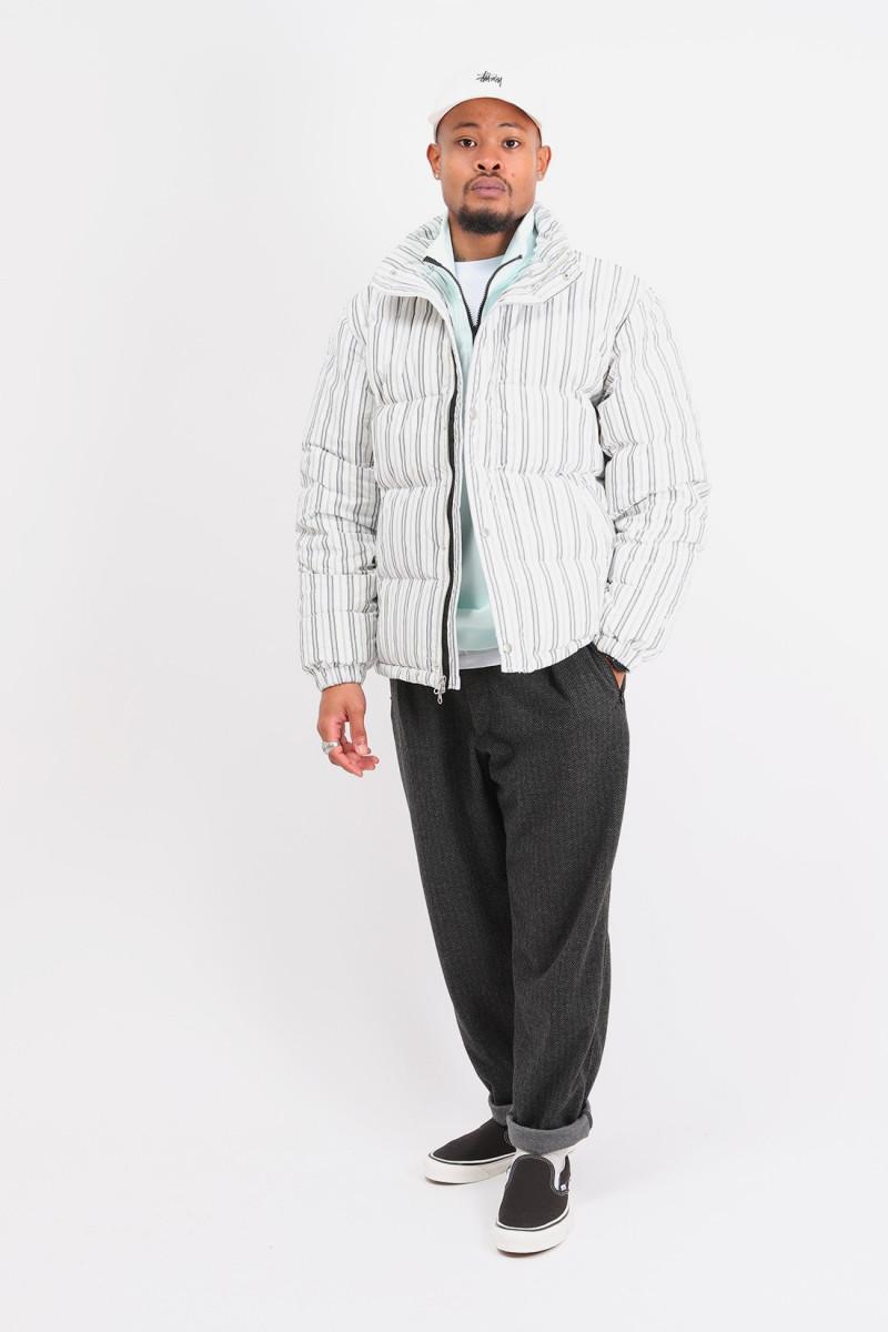 Stripe down puffer jacket Bone