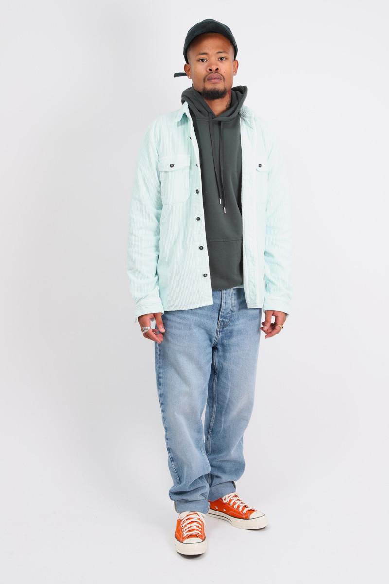 12111 corduroy shirt v0052 Verde chiaro