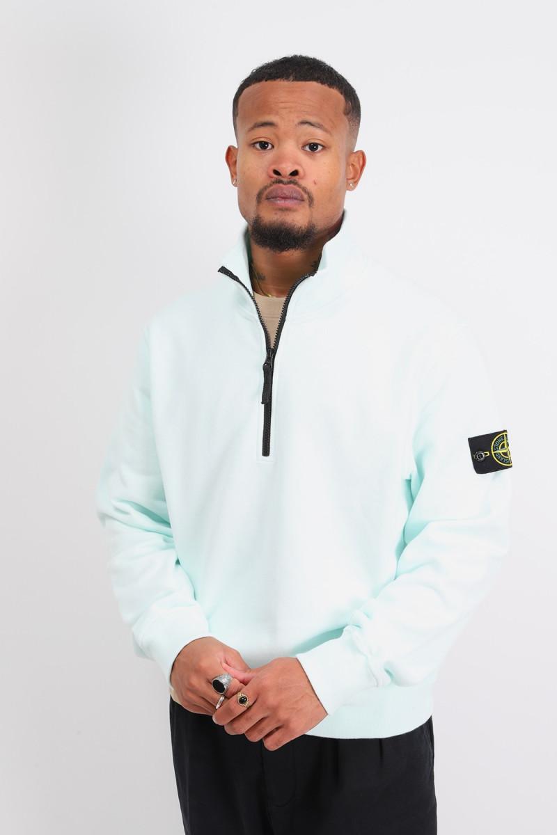 61920 half zip sweater v0052 Verde chiaro