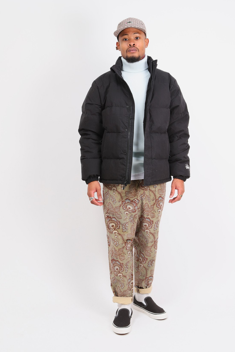 Solid down puffer jacket Black