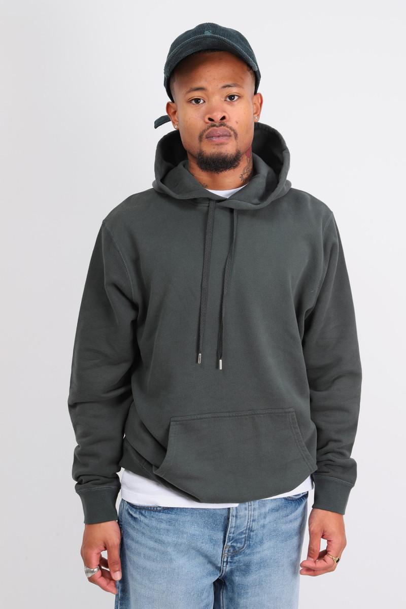 Loopback overhead hoodie Forest