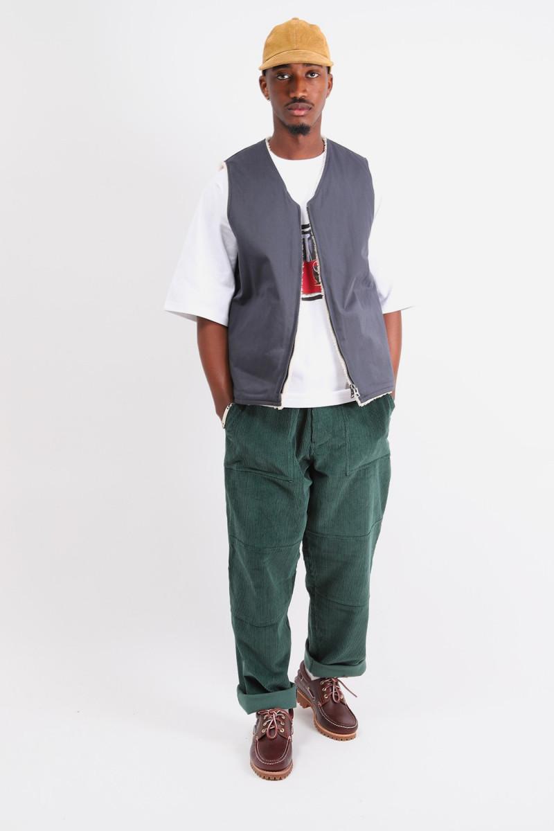 Mil zip vest reversible Navy/off white