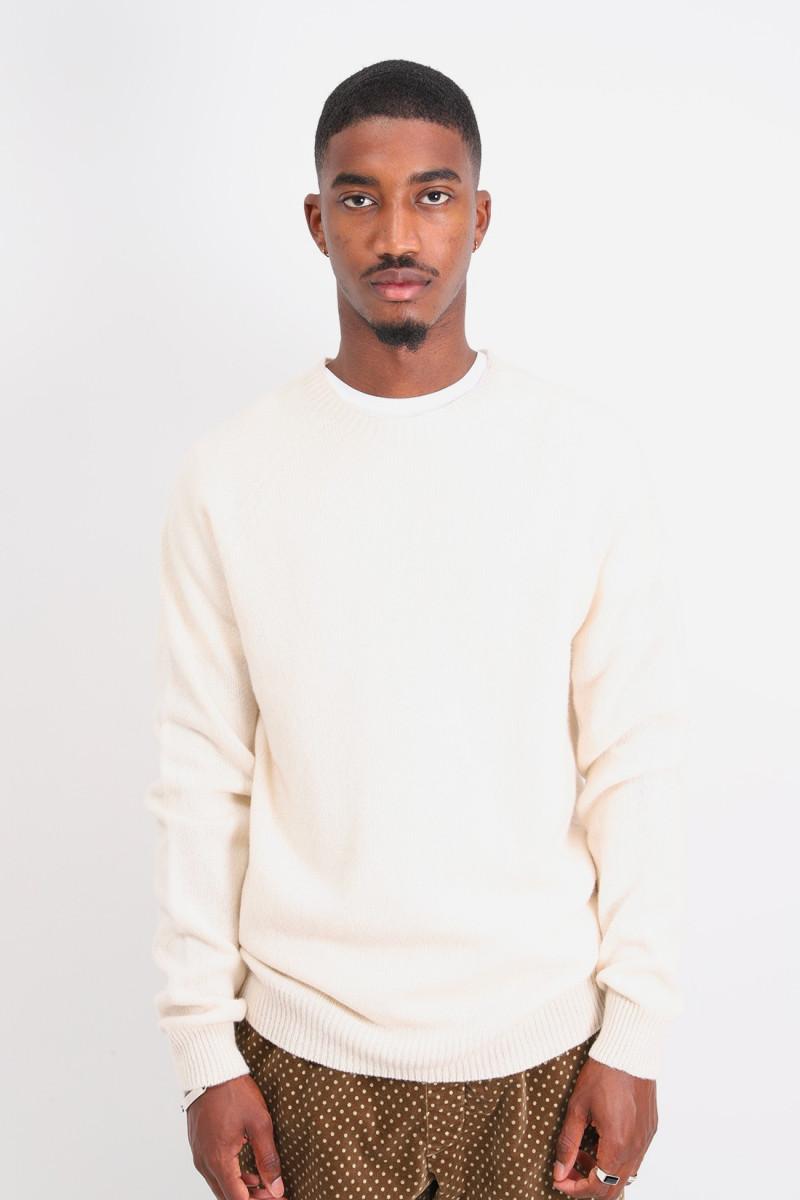 Lamwbswool crewneck sweater Ecru
