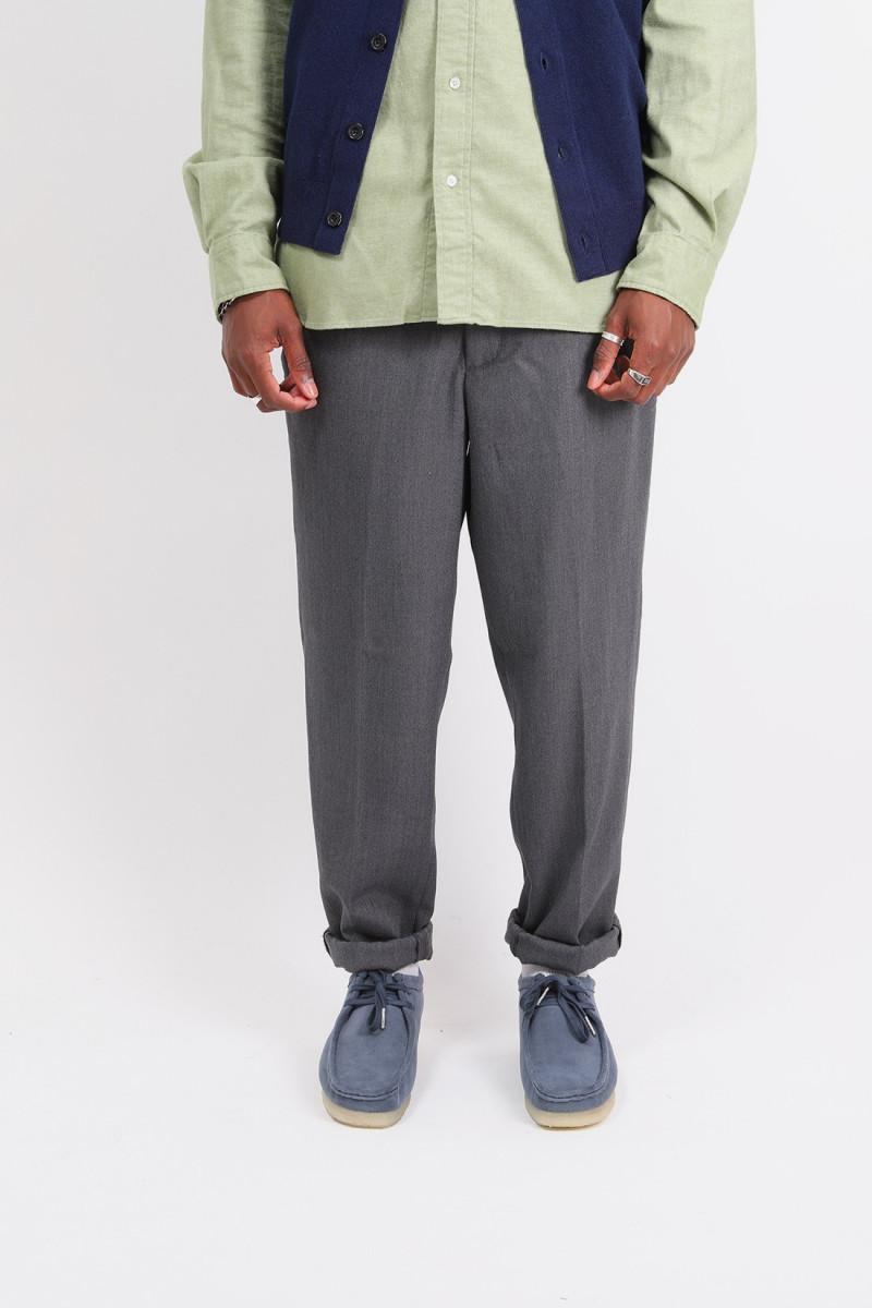 Slim easy wool pants Mix gray