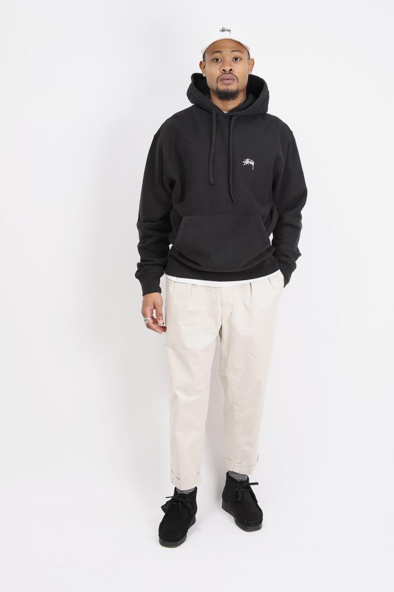 Overdyed hoodie Black