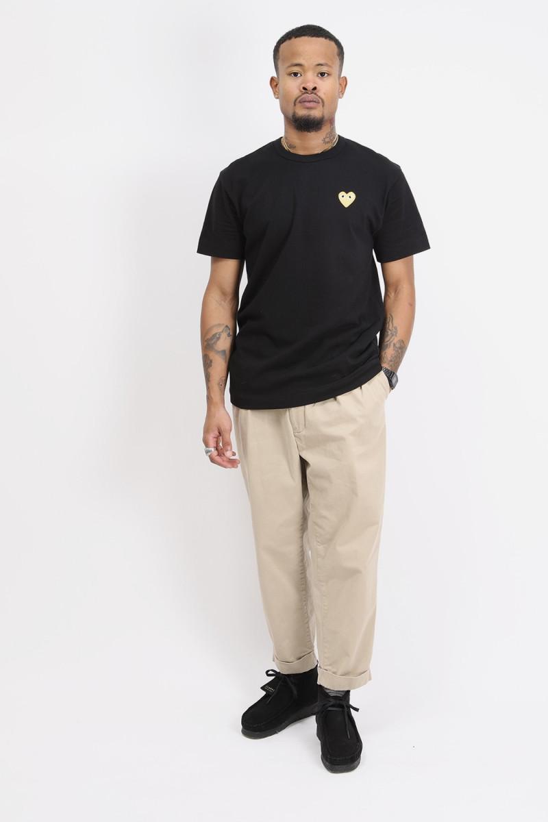 Play gold heart t-shirt Black