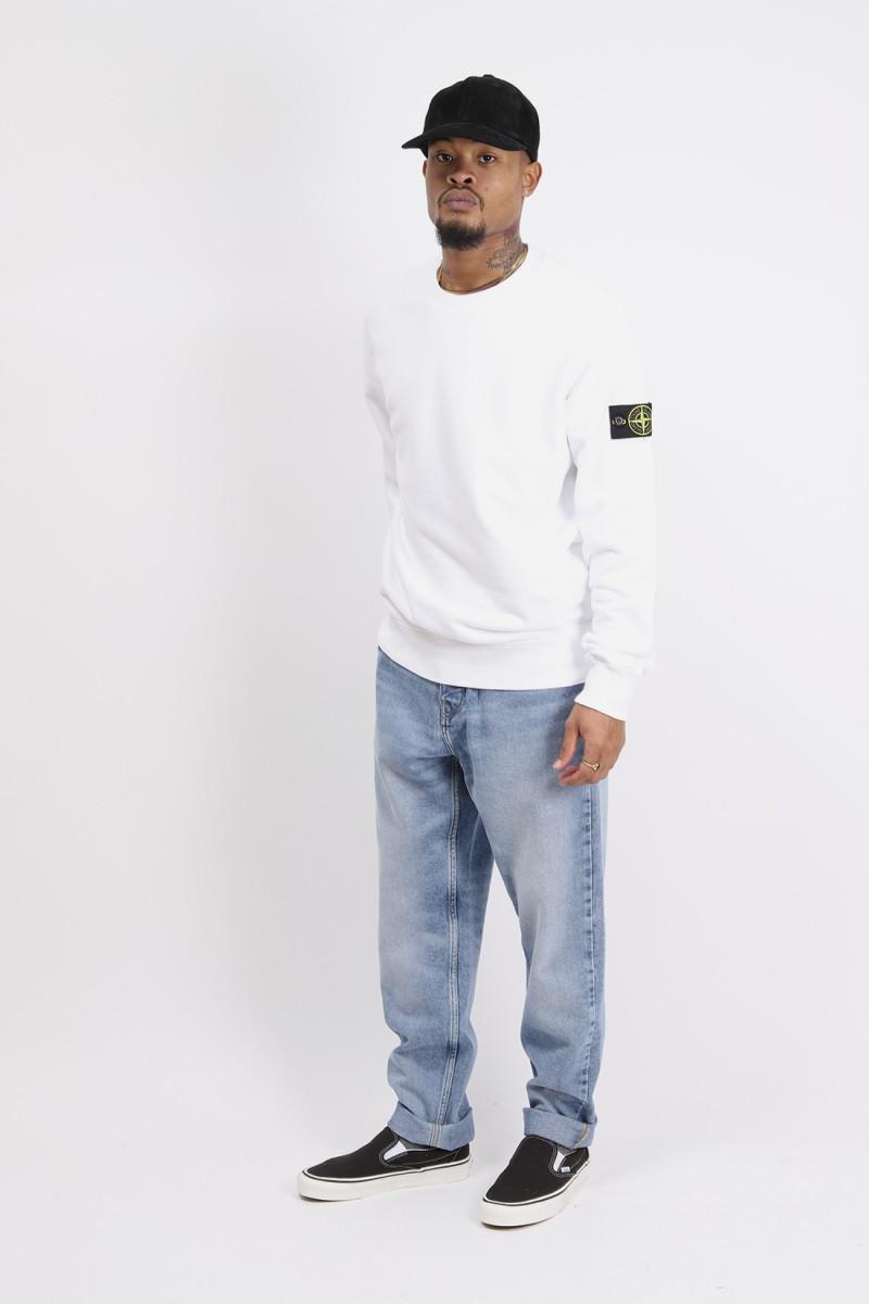 63020 crewneck sweater v0001 Bianco