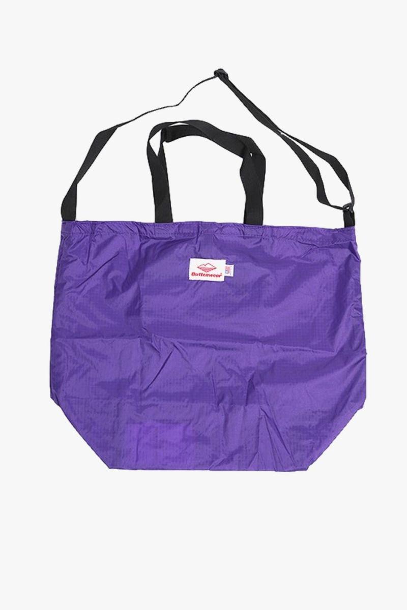 Packable tote ripstop nylon Purple