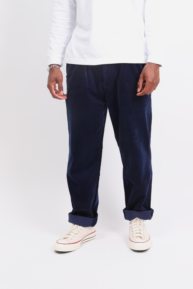 Relaxed fit wtman pleated pant Navy