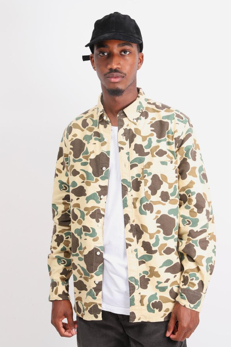 B.d. print flannel shirt duck Hunter camo