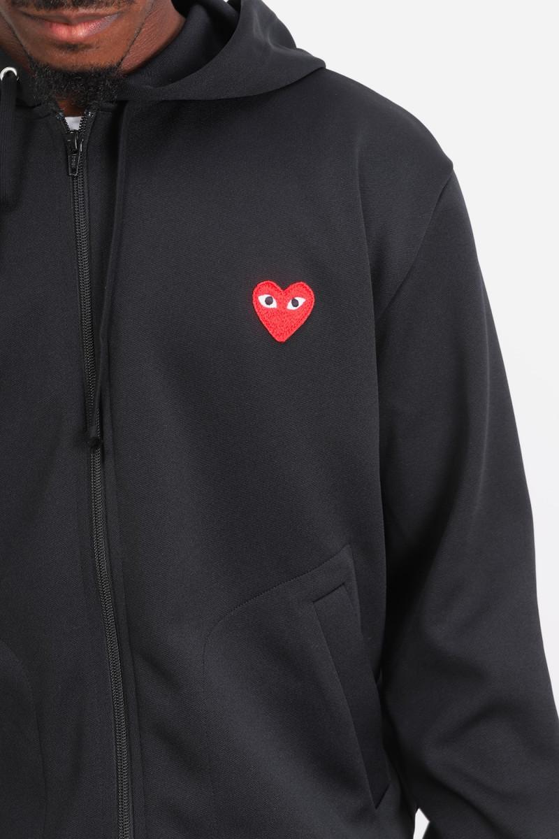 Play hooded zipped sweatshirt Black