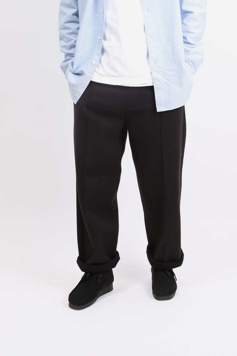 Pantalon a plis bbroderie ami Noir
