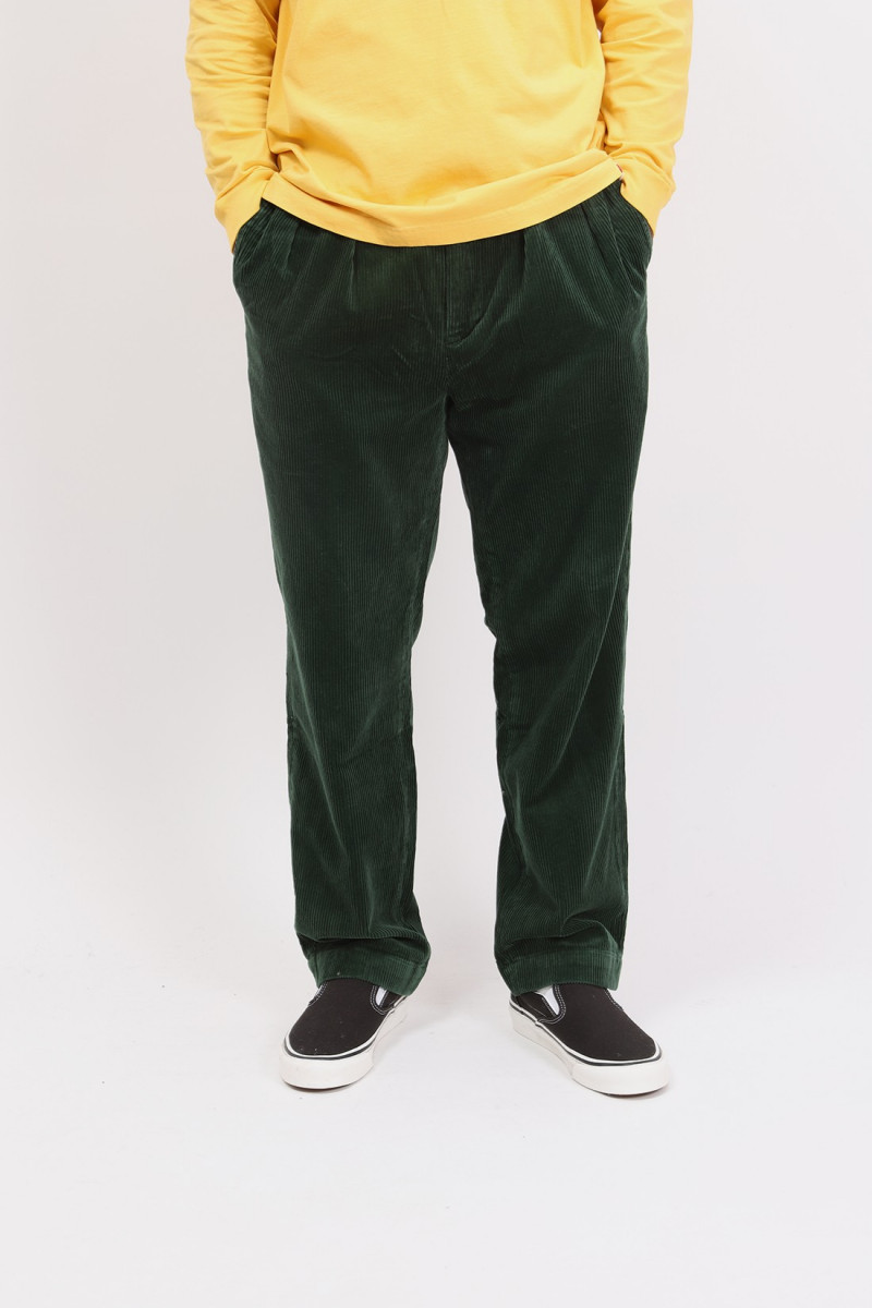 Relaxed fit wtman pleated pant Green