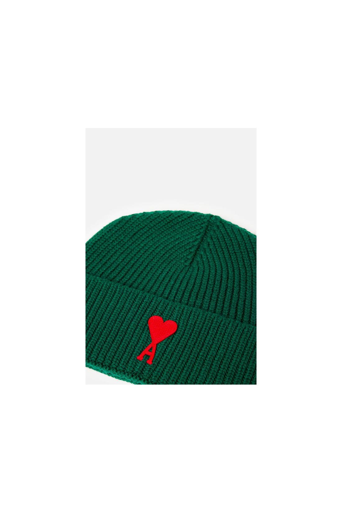 AMI / Bonnet patch ami de coeur Vert